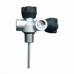 LOLA T-SV double-robinet gauche DIN G5/8 200 bar