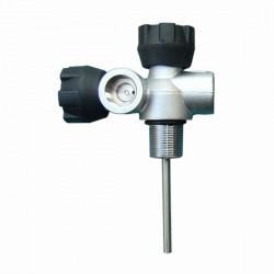 LOLA T-SV double-robinet droite DIN G5/8 300 bar