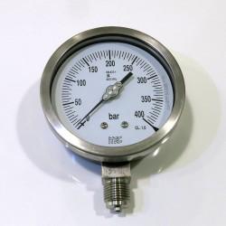 Manómetro Analógicc 100mm, 300 bar OXIGENO