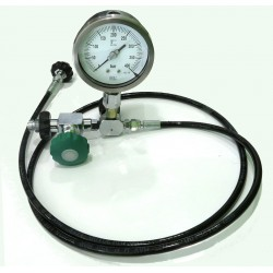 Trasvasador DIN 300bar Oxigeno Analógico ITEC