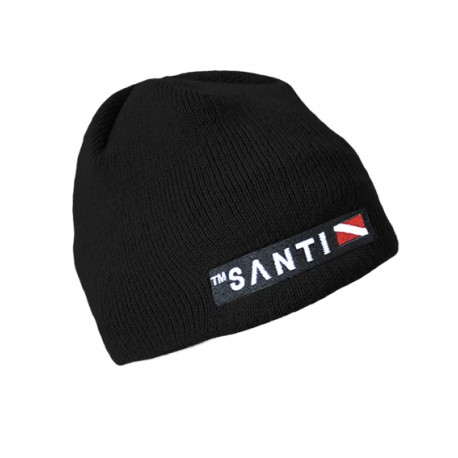 SANTI Beanie Hat Black