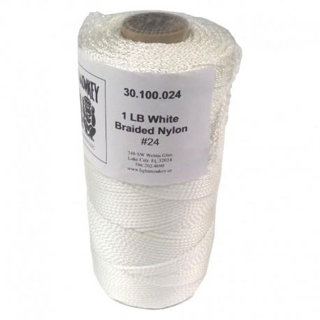 LIGHT MONKEY bobina 220m fil guia nylon 24 blanc